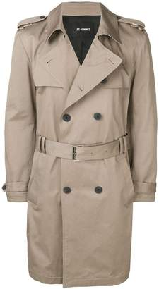 Les Hommes trench coat