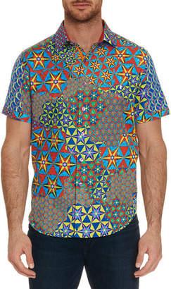 Robert Graham Men's The Prism Short-Sleeve Button Shirt