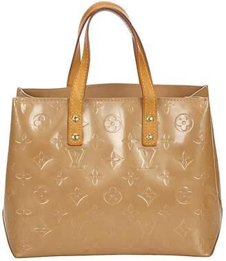 Louis Vuitton Vintage Houston Silver Patent leather Handbag