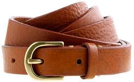 Italian leather skinny belt