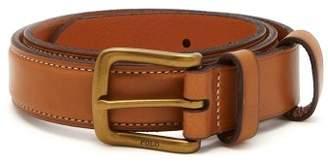 Polo Ralph Lauren Logo Debossed Leather Belt - Mens - Camel