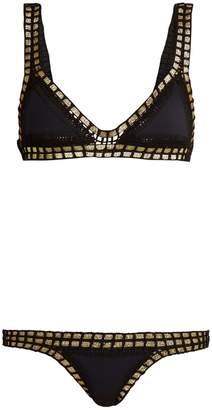 Kiini Chacha crochet-trimmed triangle bikini