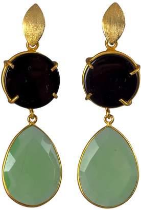 Magpie Rose - Black Onyx & Green Chrysoprase Earrings