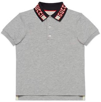 128b3d965413 Gucci Short-Sleeve Polo w/ Knit Logo Collar, Size 4-12