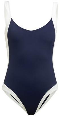Odyssee - Aurelia Colour Block Swimsuit - Womens - Navy