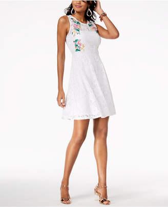 Thalia Sodi Embroidered Lace Dress, Created for Macy's