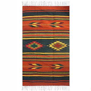 Novica Swift Arrows Zapotec Wool Rug