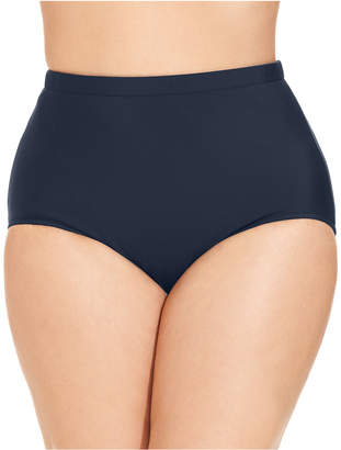 Swim Solutions Plus Size High-Waist Swim Bottoms