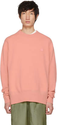 Acne Studios Pink Nalon Face Sweater