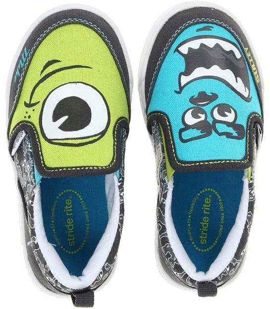 Stride Rite Monsters Slip-on (Toddler/Little Kid/Big Kid) (Grey/Blue/Green) - Footwear