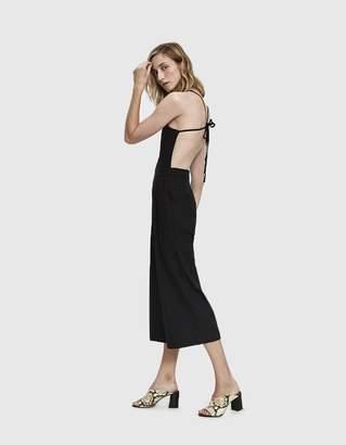 Farrow Bailey Linen Open-Back Jumpsuit