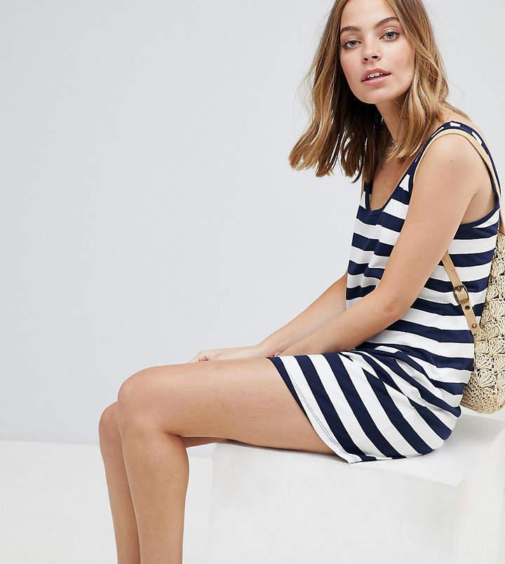 DESIGN – Petite – Ultimate – Gestreiftes Mini-Trägershirtkleid