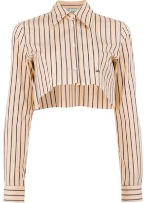 Off-White stripe cropped shirt