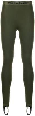 Paco Rabanne logo waistband stirrup leggings