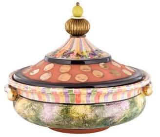 Mackenzie Childs MacKenzie-Childs Decorative Covered Ceramic Bowl