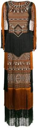 Alberta Ferretti fringed Navajo-style dress
