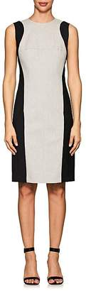 Narciso Rodriguez WOMEN'S COLORBLOCKED WOOL-LINEN SHEATH DRESS