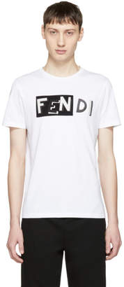 Fendi White Vocabulary Logo T-Shirt