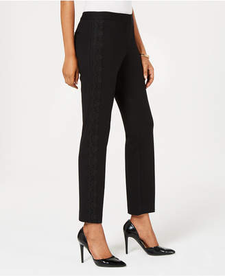 Alfani Lace-Trim Slim Pants, Created for Macy's