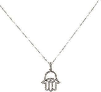 I. Reiss Diamond Hamsa Hand Necklace w/ Tags $1,175 thestylecure.com