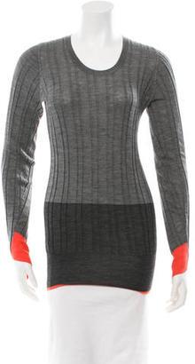Vera Wang Rib Knit Wool Sweater $115 thestylecure.com