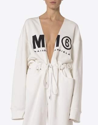 MM6 MAISON MARGIELA (エムエム6 メゾン マルジェラ) - MM6 MAISON MARGIELA mm6 ロゴ付きスウェットシャツ