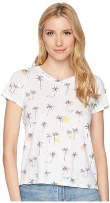 Lucky Brand All Over Palm Tree Tee Women's T Shirt