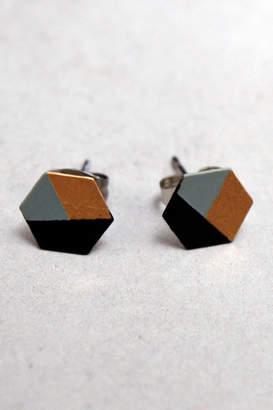 Linie Clara Kaesdorf Minimalistic Studs Mint-Black