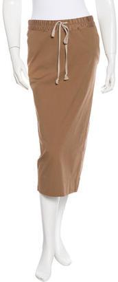 Rick Owens Tailored Midi Skirt $130 thestylecure.com