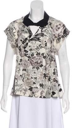 Mayle Short Sleeve Silk Blouse