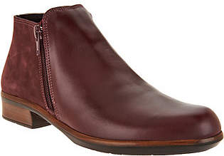 Naot Footwear Leather Ankle Booties - Helm