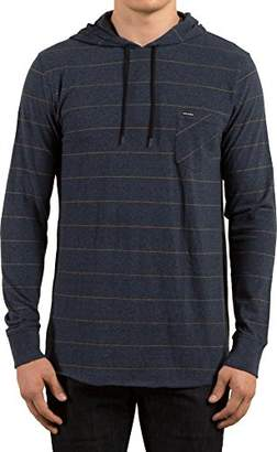 Volcom Men's Layer Glitch Hooded Shirt