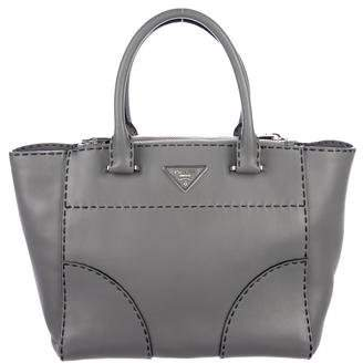 Prada City Calf Small Twin Pocket Tote
