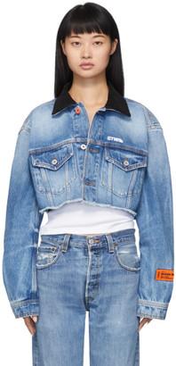 Heron Preston Blue Denim Cropped Jacket