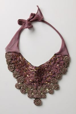 Hanging Bellflower Bib Necklace