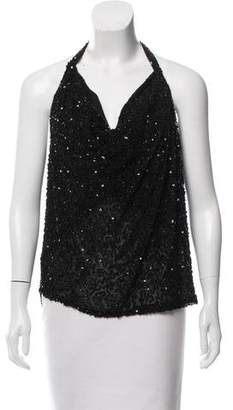 Haute Hippie Sequin Silk Top