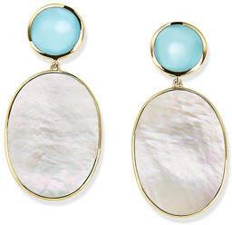 Ippolita 18K Rock Candy Black Mother-of-Pearl Snowman Earrings