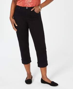 Style&Co. Style & Co Cuffed Capri Jeans, Created for Macy's