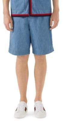 Gucci Stone Bleached Denim Bermuda Shorts
