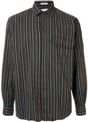 Saint Laurent Pre-Owned micro-striped cut-away collar shirt