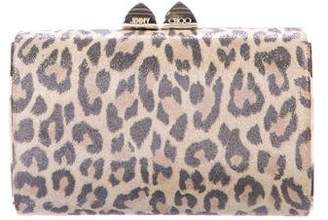 Jimmy Choo Animal Print Frame Clutch