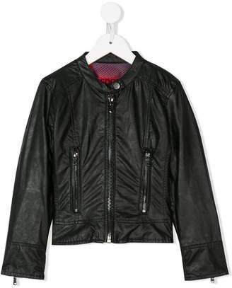 Freedomday Junior band collar biker jacket