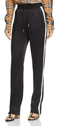Burberry Tanley Mulberry Silk Track Pants