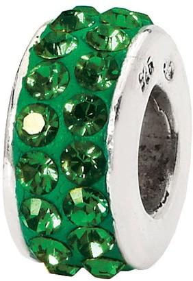 Swarovski Prerogatives Sterling Green Double Row Crystal Bead