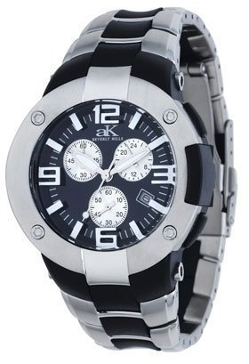 Adee Kaye クロノグラフウォッチ樹脂バンドとメタルアクセント腕時計モデルak-1077