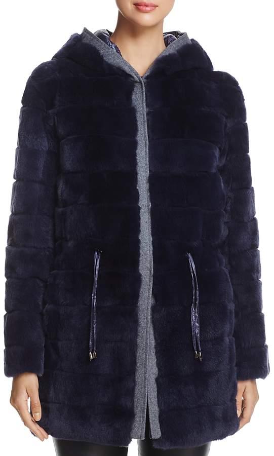 Reversible Rabbit Fur & Down Jacket - 100% Exclusive