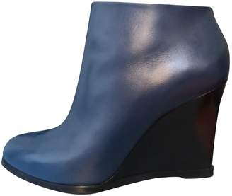 bfdb04a685ef Navy Leather Ankle Boots - ShopStyle UK