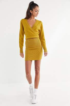 Urban Outfitters Two Timer Surplice Sweater Dress