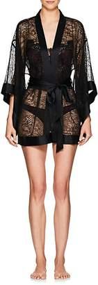 Kiki de Montparnasse Women's Silk-Trimmed Lace Kimono Robe