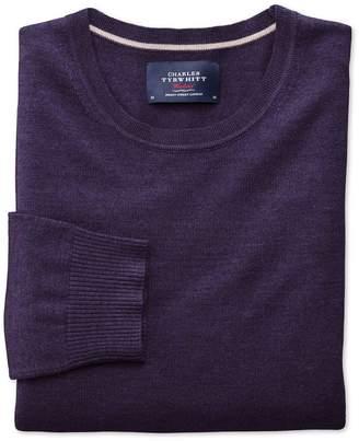 Charles Tyrwhitt Purple Merino Wool Crew Neck Sweater Size XXL